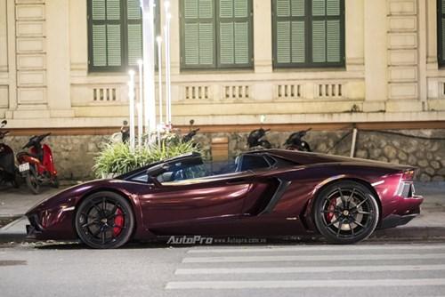 Bắt gặp Lamborghini Aventador Roadster màu cánh gián đi chơi cuối tuần - Ảnh 4.