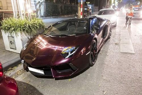 Bắt gặp Lamborghini Aventador Roadster màu cánh gián đi chơi cuối tuần - Ảnh 1.