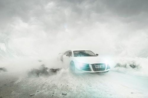 Audi đặt làm quảng cáo xe sang giá 160.000 đô, anh chàng này chỉ dùng 40 đô, thêm tài Photoshop mà làm sản phẩm đẹp không tin được - Ảnh 14.