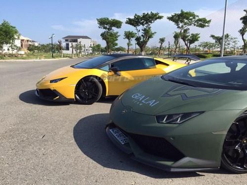 Cặp đôi Lamborghini Huracan độ khủng, biển VIP, đọ dáng cùng nhau tại Đà Nẵng - Ảnh 14.