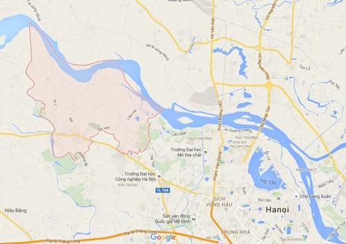 ban do huyen dan phuong (nguon google maps)