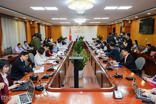 Bộ trưởng Trần Tuấn Anh làm việc với lãnh đạo các Cục, Vụ, đơn vị chức năng liên quan về công tác chuẩn bị thực thi EVFTA