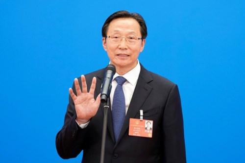 Bộ trưởng Bộ Nông nghiệp Hàn Trường Phú phát biểu tại phiên họp quốc hội lần thứ 13 hôm 22/5. Ảnh: Chinadaily