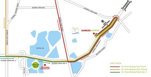 Dự án nằm trong khu đô thị Gamuda Gardens