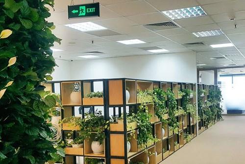 Mang tính ứng dụng cao, nội thất văn phòng HVG Office được thiết kế đơn giản theo màu gỗ tự nhiên hòa hợp với không gian chung đem lại cảm giác ấm áp cho người sử dụng.</p><p>