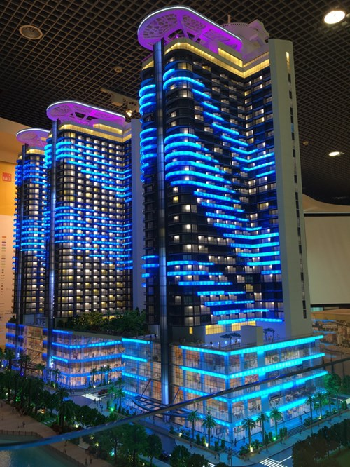 Mô hình dự án Swisstouches La Luna Resort.