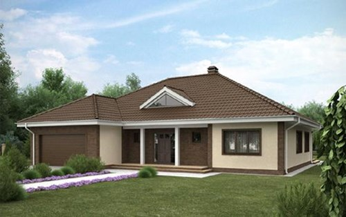 thiết kế nhà, xây nhà cấp 4, mái nhà đẹp