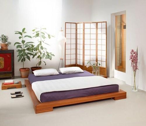 Phòng ngủ của người Nhật luôn mang đến cho người sử dụng cảm giác thư thái, lối thiết kế đơn giản, sạch sẽ đề cao chất lượng. (Ảnh Pinterest).
