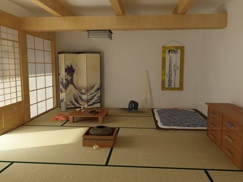 Phong cách bài trí phòng ngủ của người Nhật làm toát lên tích cách của chủ nhân giản dị, gần gũi, không phô trương. (Ảnh Pinterest).