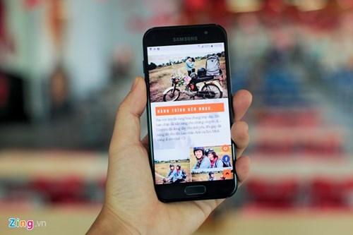 Galaxy A3 2017 - di dong gon gang, chac tay, gia 6,5 trieu dong hinh anh 8