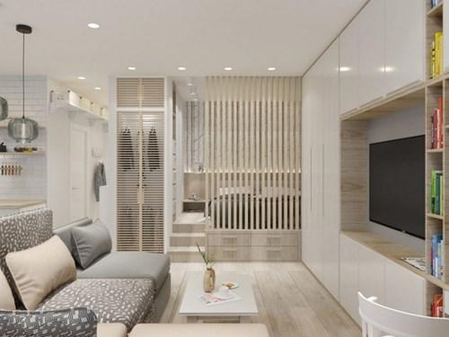 Khu vực bếp và phòng khách được ưu tiên đặt trong cùng một không gian mở cạnh những cửa sổ lớn khiến căn nhà rộng thoáng hơn.