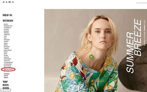 Cach san nhung mon do gia re cua Zara khi mua online hinh anh 1