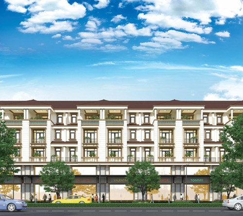 Một góc nhà phố thương mại khu đô thị Vạn Phúc, với mặt tiền cực rộng 7m, kết hợp linh hoạt giữa việc ở và kinh doanh.