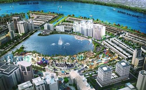 """Công viên giải trí Ocean World Ho Chi Minh rộng 21ha – """"kim bài"""" bảo chứng cho dư địa tăng giá không ngừng của dự án Vạn Phúc trong tương lai."""