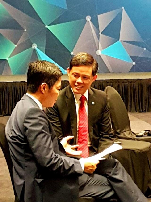 Bộ trưởng Trần Tuấn Anh tiếp Bộ trưởng Bộ Công Thương Singapore