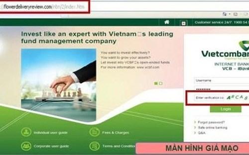 Vietcombank liên tiếp cảnh báo giao dịch giả mạo