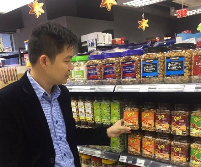 Hạt điều Lafooco lên kệ siêu thị Hồng Kông