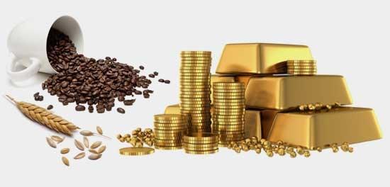 Hàng hóa TG sáng 29/7: Giá dầu thấp nhất 3 tháng, vàng và cà phê tăng