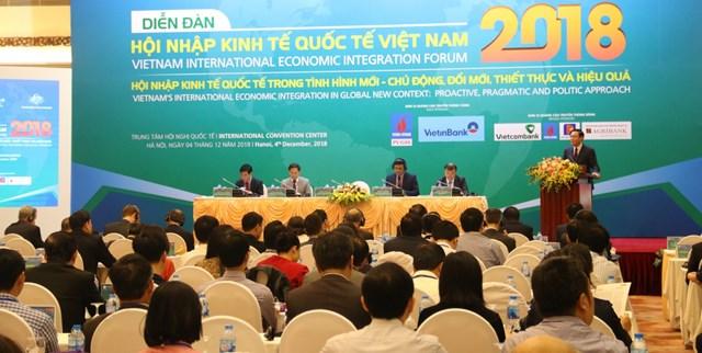 Diễn đàn kinh tế quốc tế VN 2018: Chủ động – Đổi mới – Thiết thực và Hiệu quả