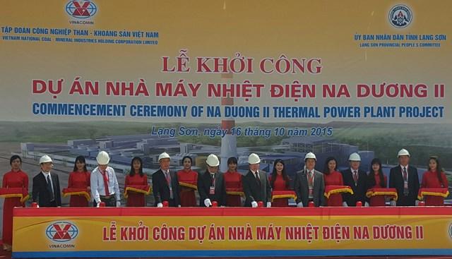 Điện lực Vinacomin khởi công dự án nhiệt điện Na Dương II