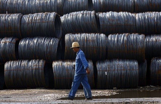 Giá thép Trung Quốc thấp kỷ lục