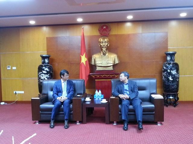 Thứ trưởng Hoàng Quốc Vượng tiếp Giám đốc Tập đoàn Sumitomo