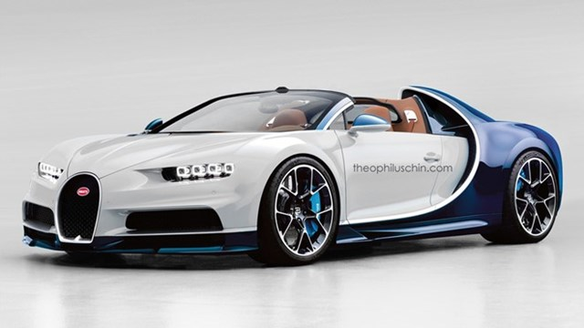 Bugatti Chiron không có phiên bản mui trần