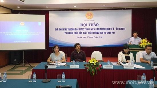 Thúc đẩy XK hàng Việt Nam thông qua Hiệp định TMTD giữa VN và Liên minh KT Á - Âu
