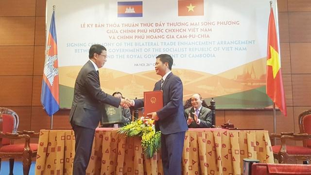 Kim ngạch thương mại Việt Nam-Campuchia: mục tiêu 5 tỷ USD