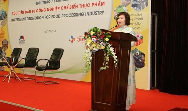 """Thứ trưởng Hồ Thị Kim Thoa dự Hội thảo """"Xúc tiến đầu tư trong lĩnh vực CNCBTP"""""""