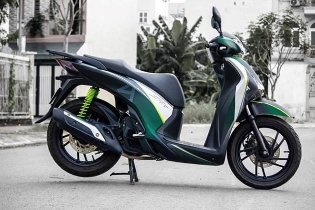 Honda SH phối màu độc cho dàn vỏ ở Sài Gòn