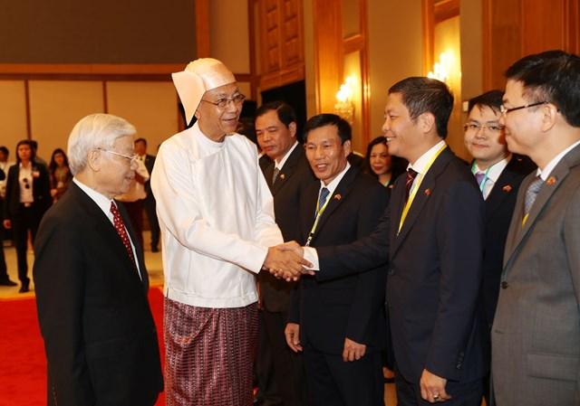 Bộ trưởng BCT Trần Tuấn Anh tham gia đoàn Tổng Bí thư thăm Cấp nhà nước tới Mi-an-ma