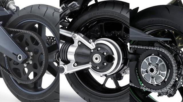 Trục các-đăng, xích và dây curoa: Đâu là lựa chọn tối ưu cho môtô
