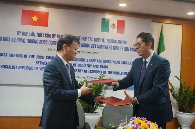 Kỳ họp lần thứ I của UB hỗn hợp về hợp tác KT, thương mại và đầu tư Việt Nam – Mexico