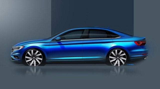 Volkswagen hé lộ Jetta thế hệ mới, đối đầu Toyota Corolla