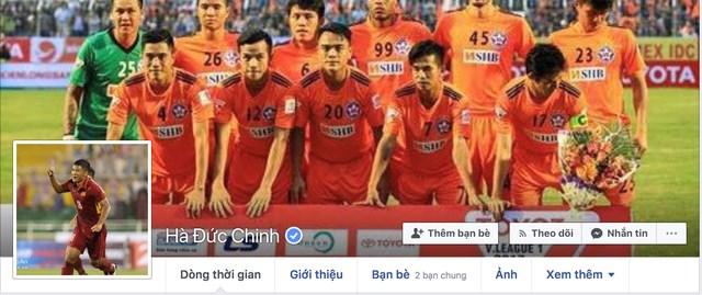 Facebook nhiều cầu thủ U23 Việt Nam có dấu tick xanh