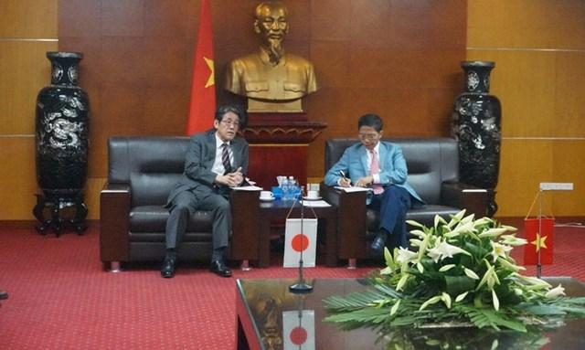Bộ trưởng Trần Tuấn Anh tiếp và làm việc với Đại sứ Nhật Bản tại Việt Nam Kunio UMEDA