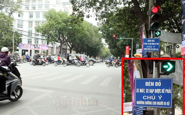 Đèn đỏ rẽ phải khi không có dấu hiệu được phép rẽ sẽ bị phạt
