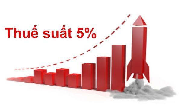 Hàng hóa, dịch vụ chịu thuế suất 5% mới nhất