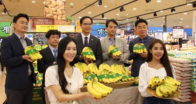 TT nông sản ngày 19/6: Chuối Việt Nam được phân phối tại chuỗi siêu thị Lotte HQ