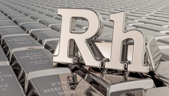 Giá rhodium tăng hơn 70% - mức tăng kỷ lục kể từ đầu năm 2021