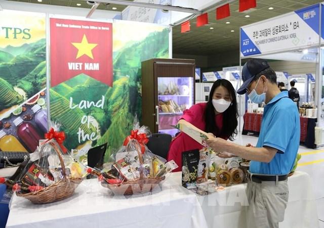 Nông sản Việt Nam tham gia Hội chợ hàng nhập khẩu Hàn Quốc 2021