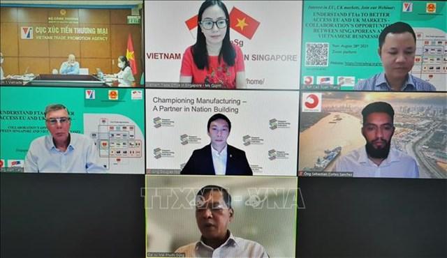 Thúc đẩy cơ hội hợp tác giữa các doanh nghiệp Việt Nam và Singapore vào thị trường EU và Anh