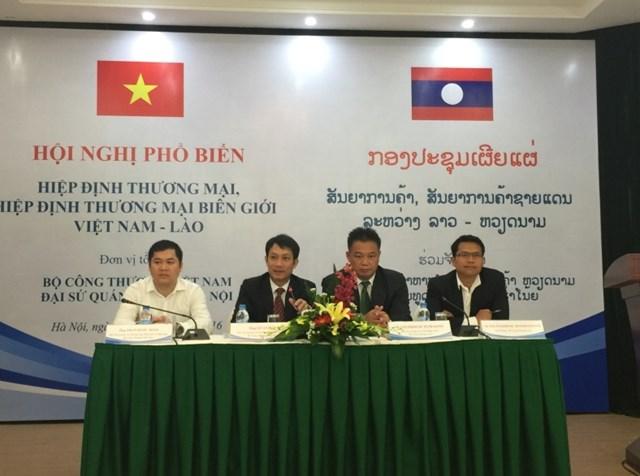 Hội nghị phổ biến Hiệp định Thương mại Việt - Lào