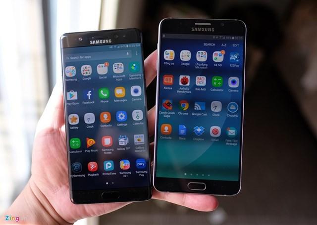 Galaxy Note 7 so thiết kế với Note 5