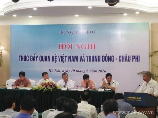 Thứ trưởng Đỗ Thắng Hải tham dự Hội nghị thúc đẩy quan hệ Việt Nam và Trung Đông – CP
