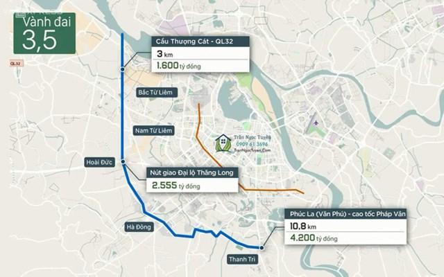 Khởi động xây dựng đường vành đai 3,5 và một số tuyến đường khác chạy qua Hoài Đức