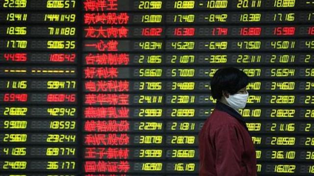 Cổ phiếu châu Á giảm theo đà phố Wall