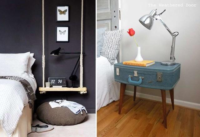 Những cách tự làm tủ đầu giường từ những vật dụng tưởng như bỏ đi