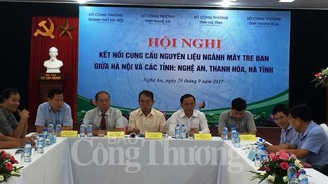 Kết nối cung cầu nguyên liệu ngành mây tre đan giữa Hà Nội và các tỉnh miền Trung